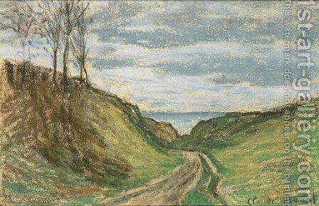 Chemin creux, Pourville by Claude Oscar Monet - Reproduction Oil Painting