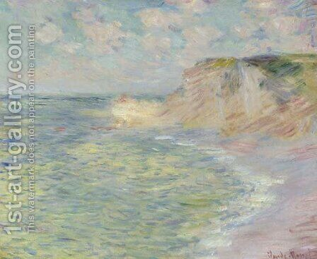 La falaise d'Amont by Claude Oscar Monet - Reproduction Oil Painting