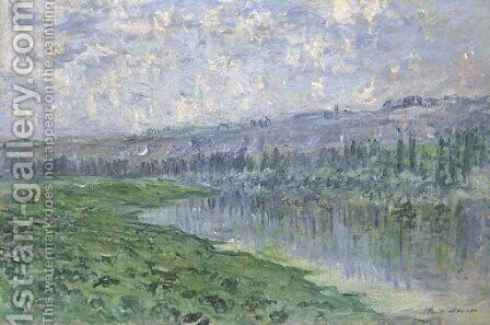 La Seine et les cateaux de Chantemesle by Claude Oscar Monet - Reproduction Oil Painting