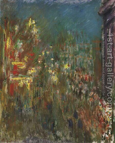Leicester Square, la nuit by Claude Oscar Monet - Reproduction Oil Painting