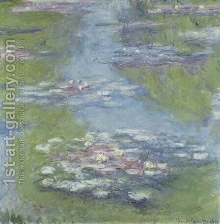 Nympheas by Claude Oscar Monet - Reproduction Oil Painting