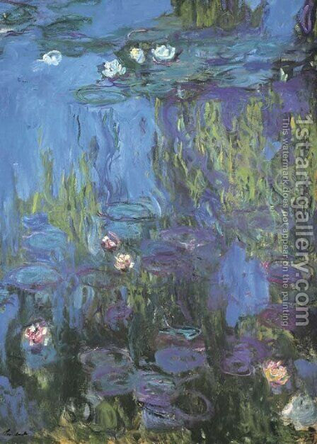 Nympheas 2 by Claude Oscar Monet - Reproduction Oil Painting