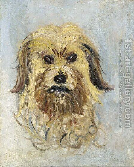 Tete de chien griffon, Follette by Claude Oscar Monet - Reproduction Oil Painting