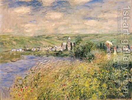 Vetheuil, vu de l'ile Saint-Martin by Claude Oscar Monet - Reproduction Oil Painting