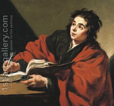 Saint John the Evangelist by Claude Vignon - Reproduction Oil Painting