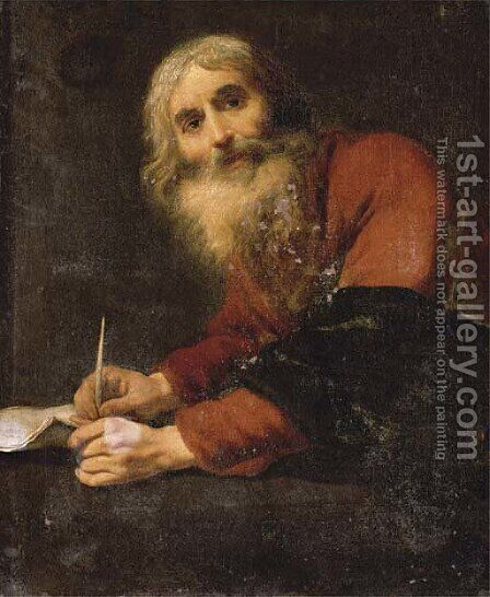 Saint Luke the Evangelist by Claude Vignon - Reproduction Oil Painting