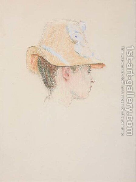 Femme au chapeau by Claude Emile Schuffenecker - Reproduction Oil Painting