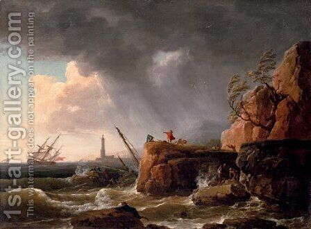 The tempest by Claude-joseph Vernet - Reproduction Oil Painting