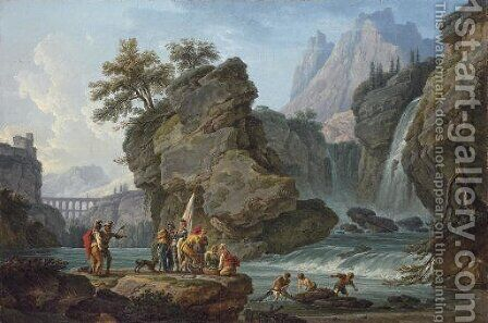 La Cascade by Claude-joseph Vernet - Reproduction Oil Painting
