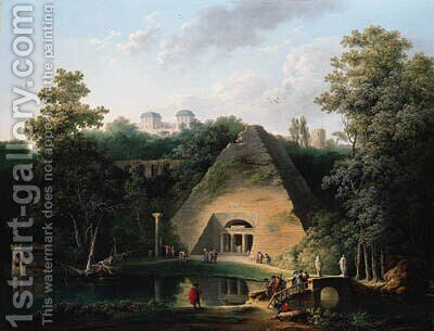 The Pyramid at the Chateau de Maupertuis by Claude Louis Chatelet - Reproduction Oil Painting