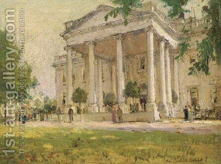 The White House by Colin Campbell Cooper - Reproduction Oil Painting