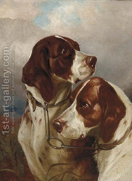 A brace of gundogs by Colin Graeme Roe - Reproduction Oil Painting