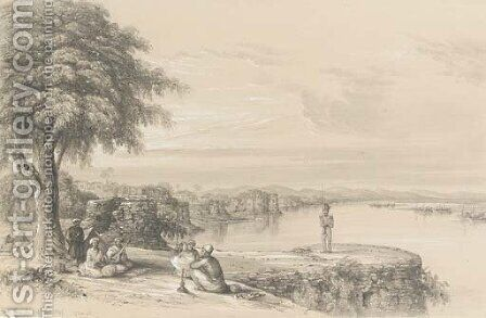 Fort Monghir, on the Ganges, near Patna by Colonel George Francis White - Reproduction Oil Painting