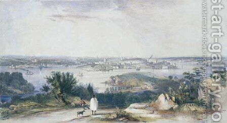 View of Sydney from St Leonards, 1842 by Conrad Martens - Reproduction Oil Painting