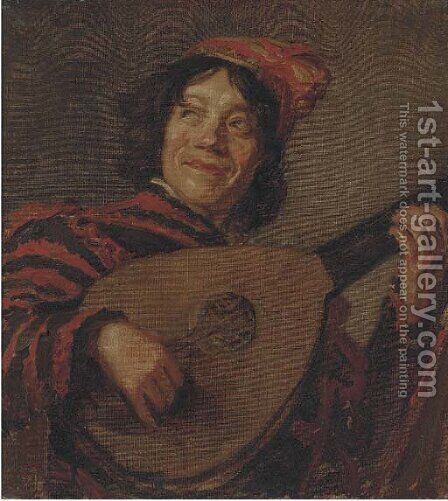 The troubador by Continental School - Reproduction Oil Painting