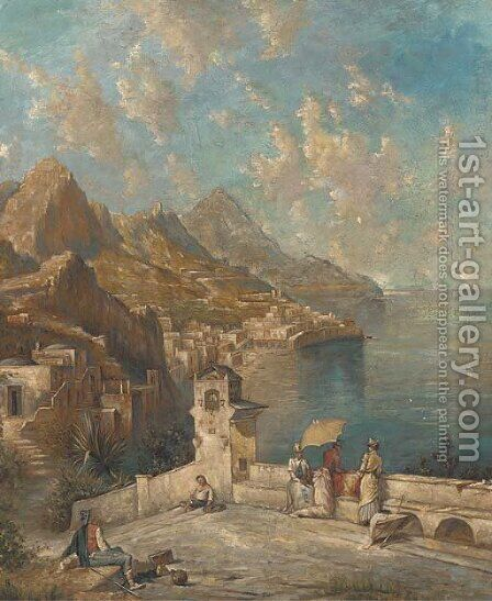 Capri by Continental School - Reproduction Oil Painting