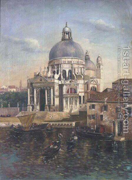Santa Maria della Salute by Continental School - Reproduction Oil Painting
