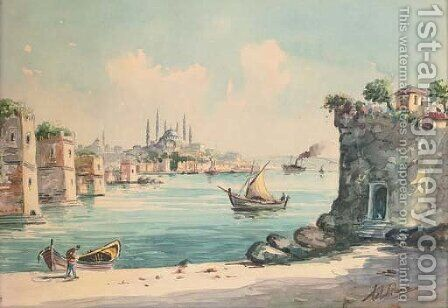 Constantinople by Continental School - Reproduction Oil Painting
