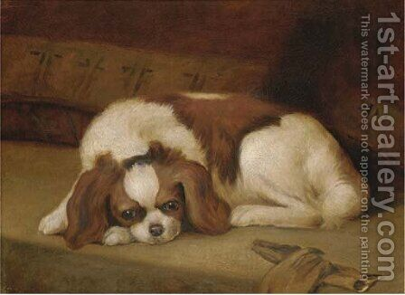 A Japanese Chin by Continental School - Reproduction Oil Painting