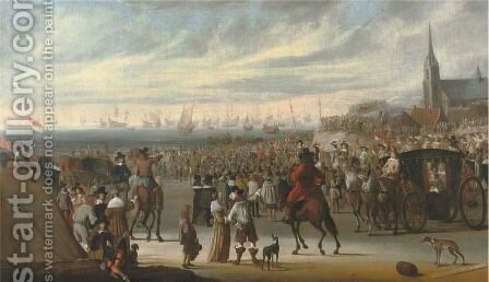 The Departure of King Charles II from Scheveningen on the 24 May 1660 by Cornelis Beelt - Reproduction Oil Painting