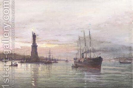 The Statue of Liberty, New York by Cornelis Christiaan Dommelshuizen - Reproduction Oil Painting