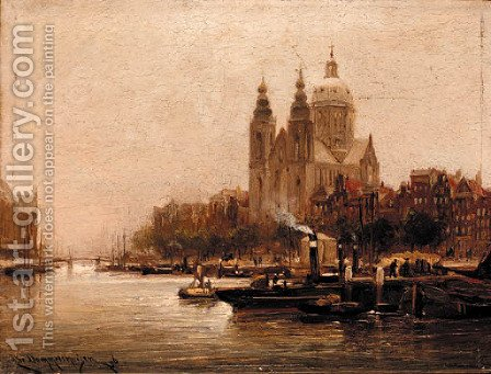 St. Nicolas Church, Amsterdam by Cornelis Christiaan Dommersen - Reproduction Oil Painting