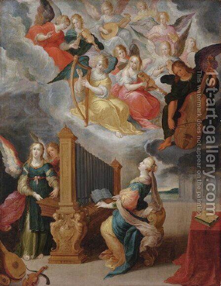 Saint Cecilia by Cornelis de Baellieur - Reproduction Oil Painting