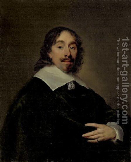 Portrait of Thomas Cletcher, half-length by Cornelius Janssens van Ceulen - Reproduction Oil Painting