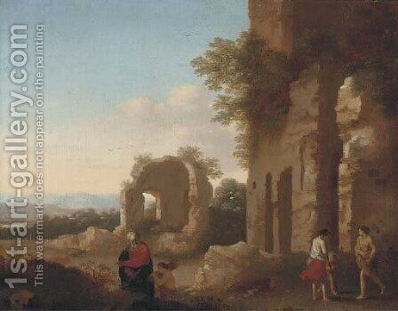 The Departure of Abraham and Isaac by Cornelis Van Poelenburgh - Reproduction Oil Painting