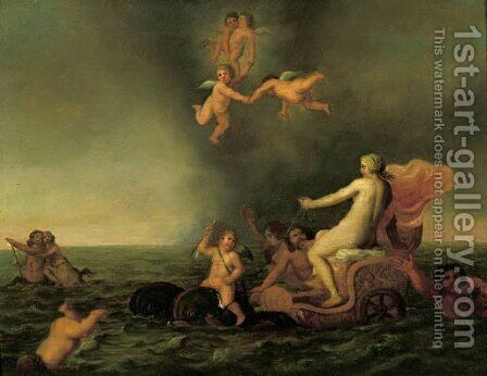 The Triumph of Amphitrite by Cornelis Willaerts - Reproduction Oil Painting