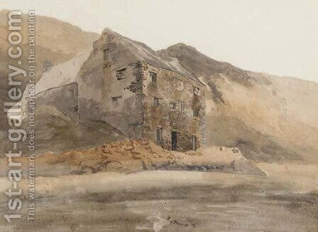 A Welsh mine by Cornelius Varley - Reproduction Oil Painting