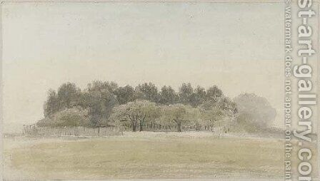 Henham Park, Suffolk by Cornelius Varley - Reproduction Oil Painting