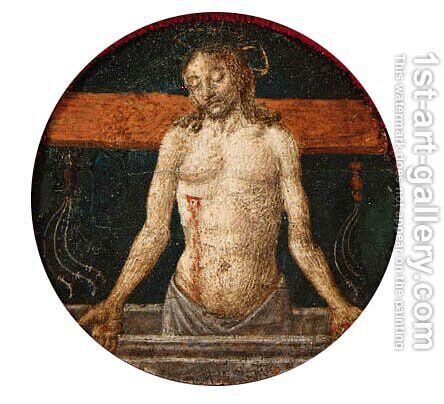 The Risen Christ with the Instruments of the Passion a roundel from a predella by Cosimo Rosselli - Reproduction Oil Painting