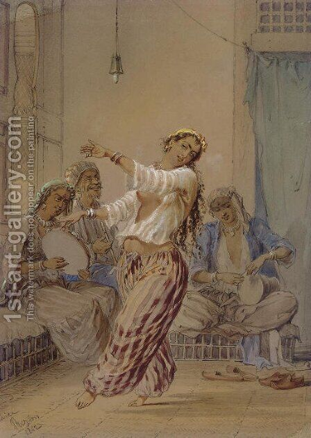 The Egyptian Dancer by Amadeo Preziosi - Reproduction Oil Painting