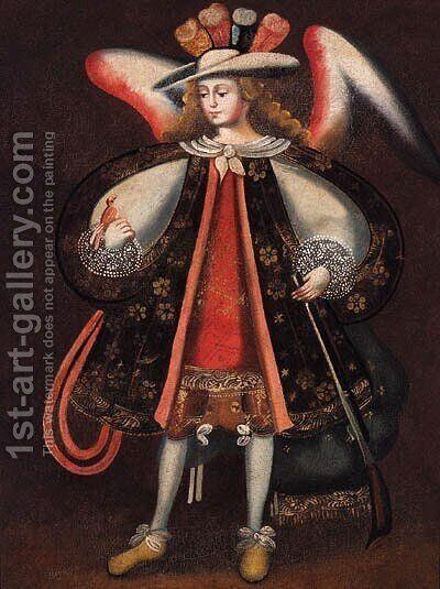 An Archangel by Cuzco School - Reproduction Oil Painting