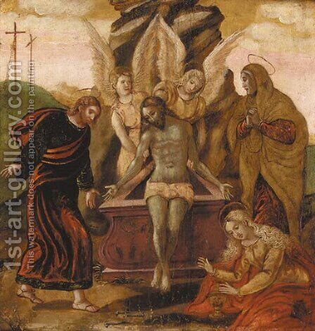 The Entombment by Dalmatian School - Reproduction Oil Painting