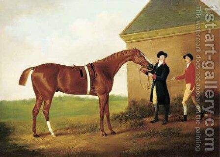 Eclipse, with jockey and groom by Daniel Clowes - Reproduction Oil Painting