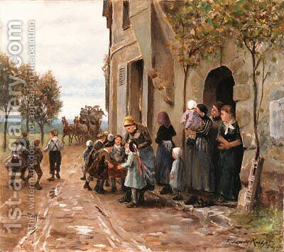Untitled by Daniel Ridgway Knight - Reproduction Oil Painting