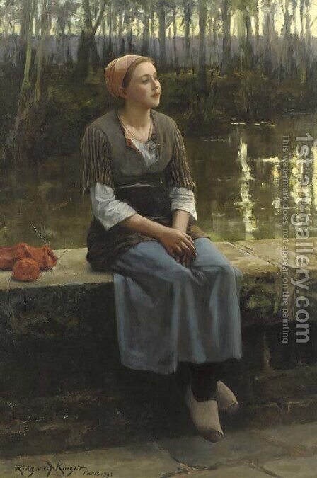 La flaneuse by Daniel Ridgway Knight - Reproduction Oil Painting