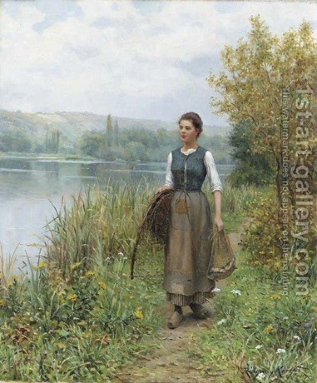 Returning Home by Daniel Ridgway Knight - Reproduction Oil Painting