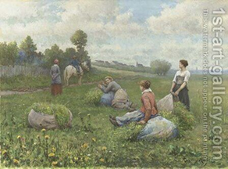 The Harvest by Daniel Ridgway Knight - Reproduction Oil Painting
