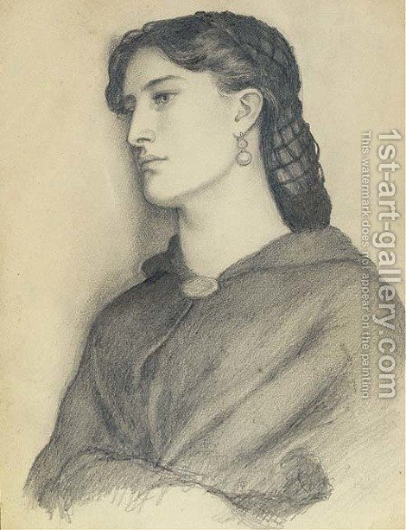 Study of Aggie Manetti by Dante Gabriel Rossetti - Reproduction Oil Painting