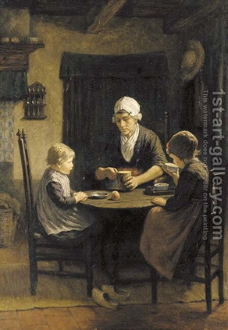 Midday meal by David Adolf Constant Artz - Reproduction Oil Painting