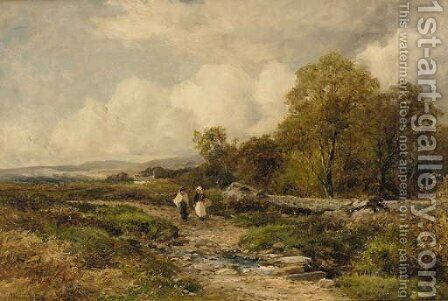 A path in Wharfedale - above the Warfe by David Bates - Reproduction Oil Painting