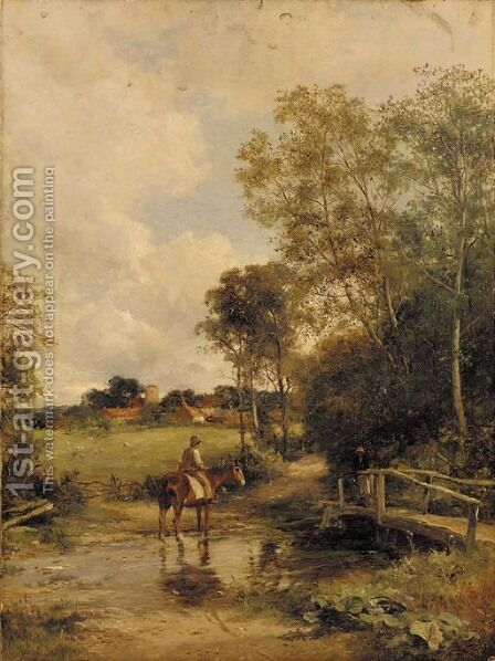 A Worcestershire lane by David Bates - Reproduction Oil Painting