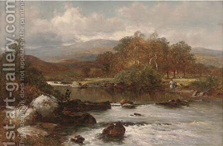 On the Wye river by David Bates - Reproduction Oil Painting