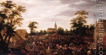A Village Kermesse by David Colijns - Reproduction Oil Painting