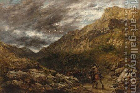 The coming storm by David Cox - Reproduction Oil Painting