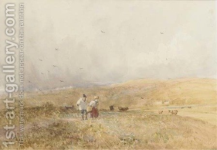 Passing shower, Yorkshire by David Cox - Reproduction Oil Painting