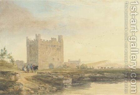 An Old Border Castle by David Cox - Reproduction Oil Painting